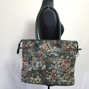 Vintage Atlantic Tapestry Travel Tote Bag